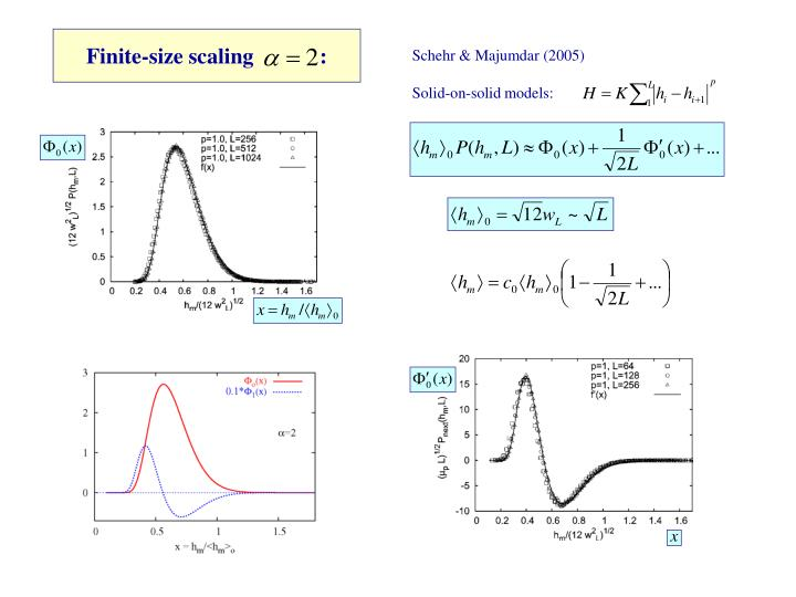 Finite-size scaling            :
