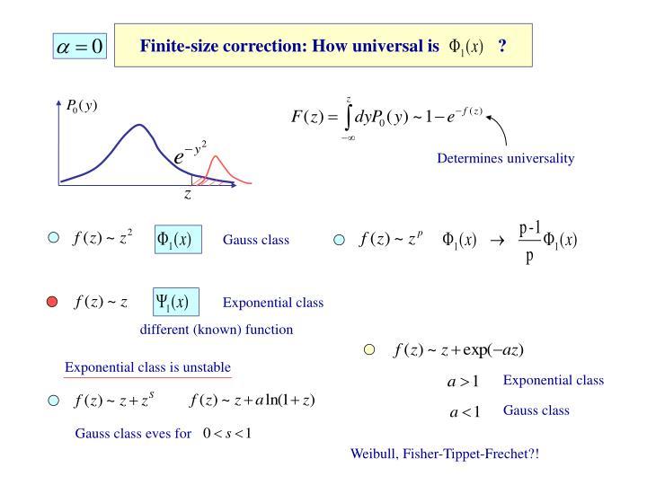 Gauss class eves for