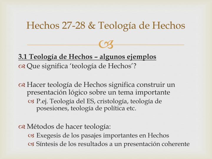 Hechos 27-28 & Teología de Hechos