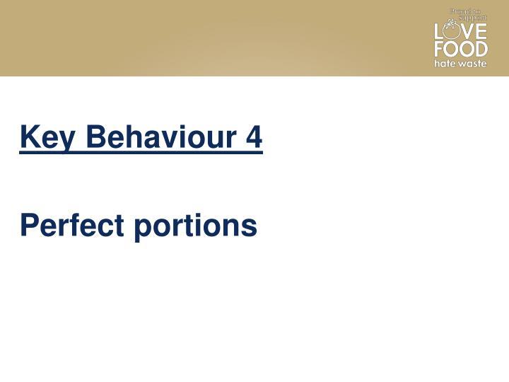 Key Behaviour 4