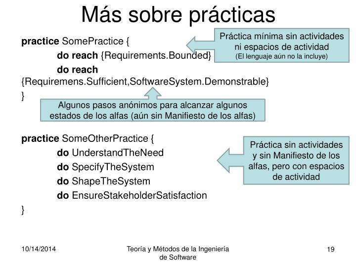 Más sobre prácticas
