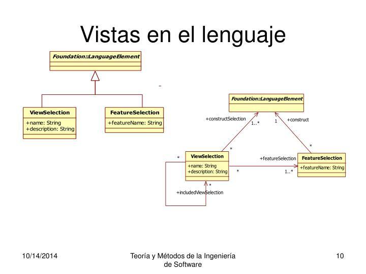Vistas en el lenguaje