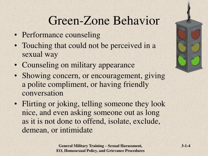 Green-Zone Behavior