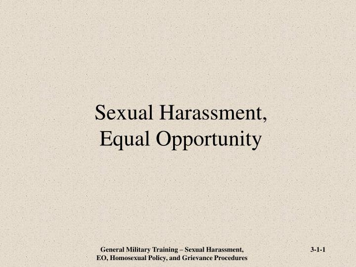 Sexual harassment equal opportunity