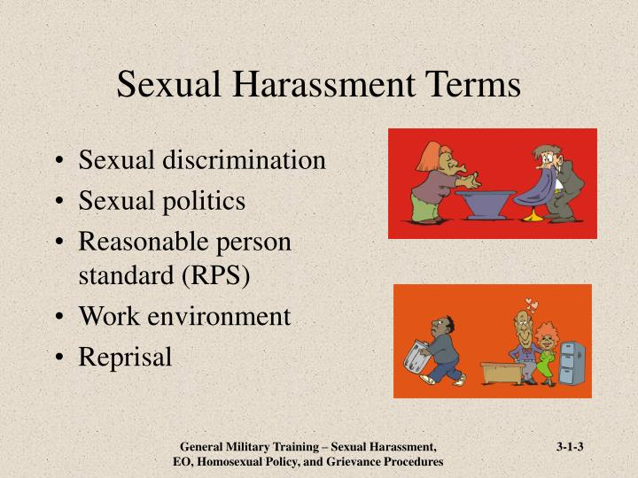 Sexual harassment terms