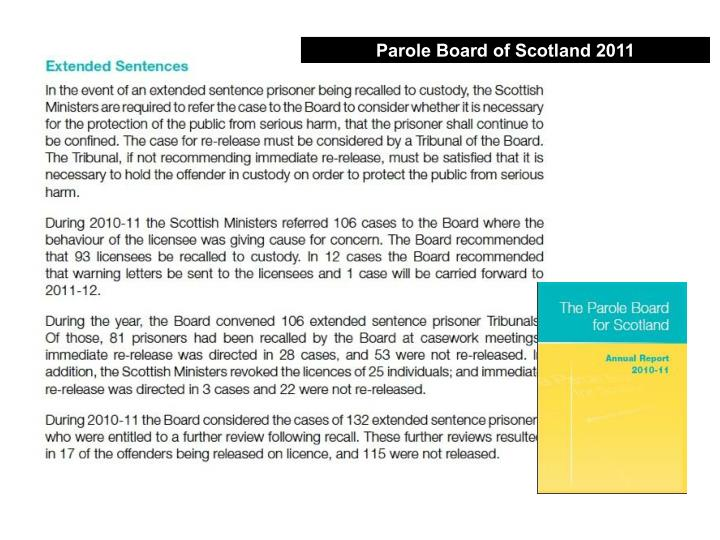 Parole Board of Scotland 2011