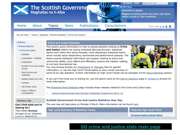 SG crime and justice stats main page