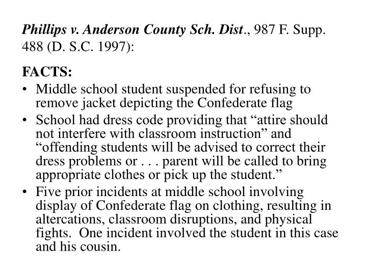 Phillips v. Anderson County Sch. Dist
