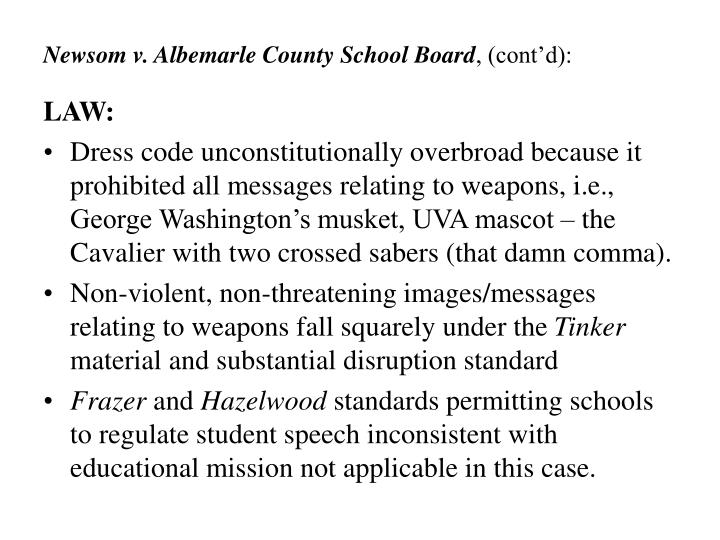 Newsom v. Albemarle County School Board