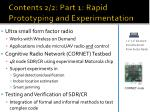 contents 2 2 part 1 rapid prototyping and experimentation