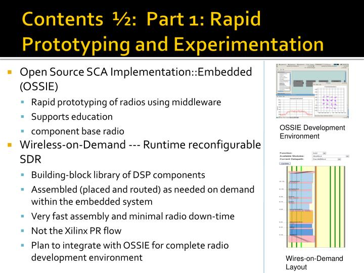 Contents  ½:  Part 1: Rapid Prototyping and Experimentation