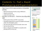 contents part 1 rapid prototyping and experimentation