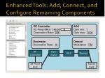 enhanced tools add connect and configure remaining components