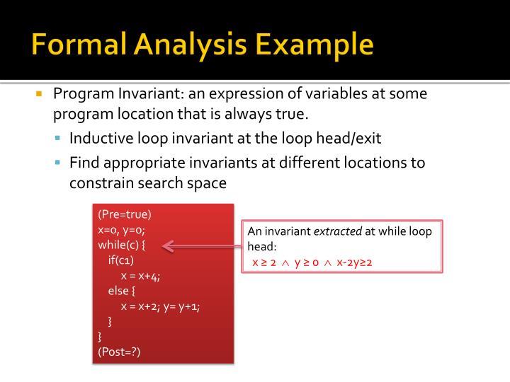 Formal Analysis Example
