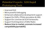 potential projects sdr rapid prototyping tools
