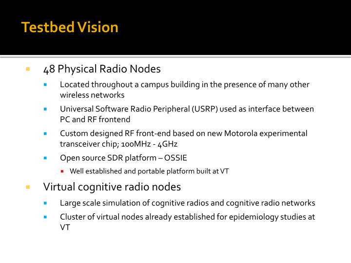Testbed Vision