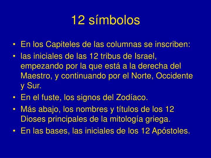 12 símbolos