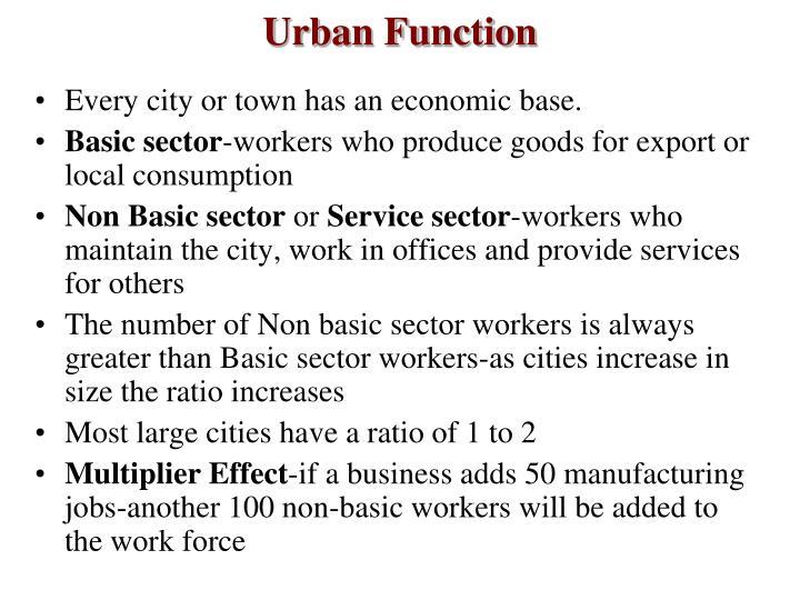 Urban Function