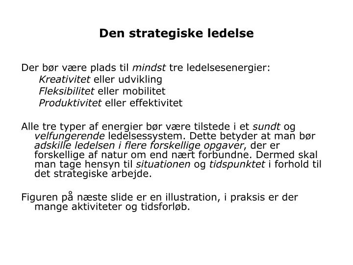 Den strategiske ledelse