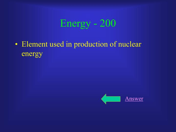 Energy - 200