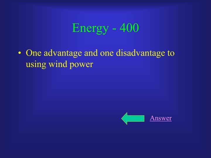 Energy - 400