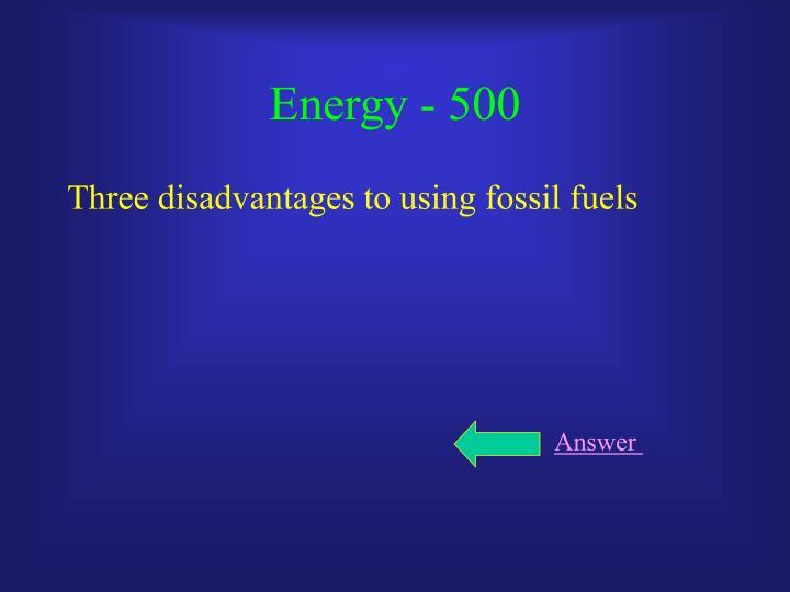 Energy - 500