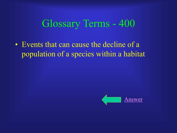 Glossary Terms - 400