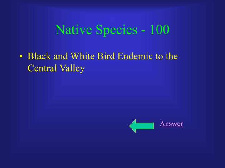 Native species 100