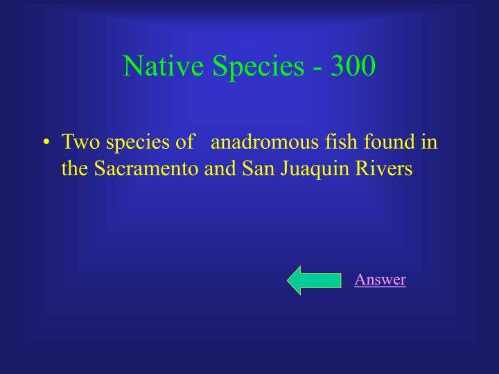 Native Species - 300
