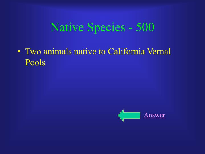 Native Species - 500