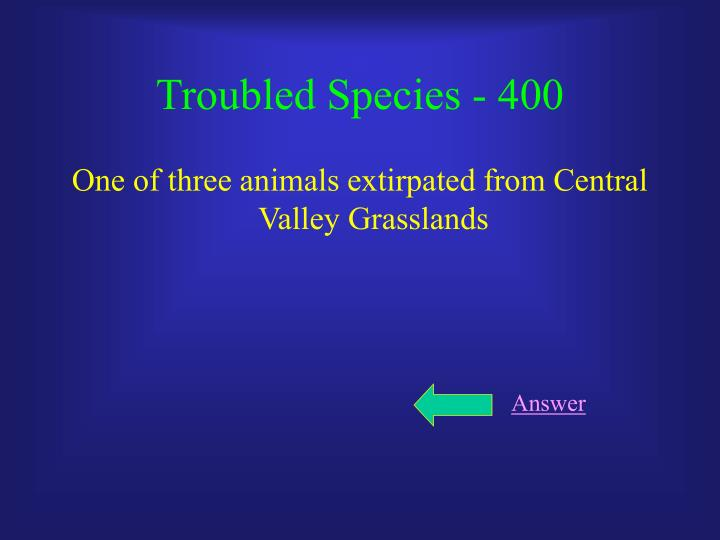 Troubled Species - 400