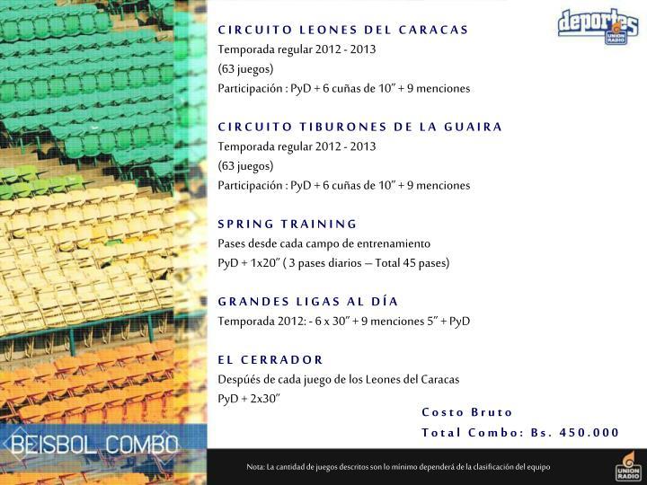 CIRCUITO LEONES DEL CARACAS
