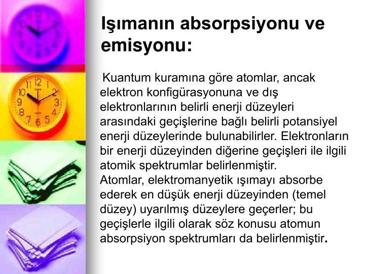 Imann absorpsiyonu ve emisyonu: