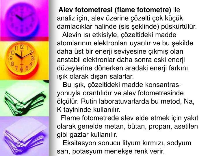 Alev fotometresi (flame fotometre)