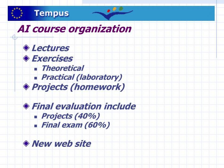 AI course organization