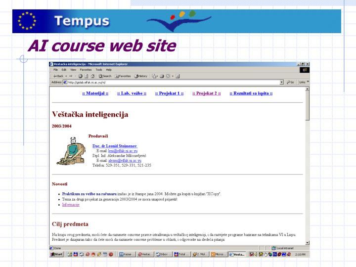 AI course web site