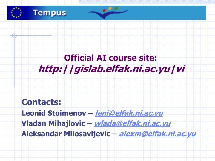 Official AI course site: