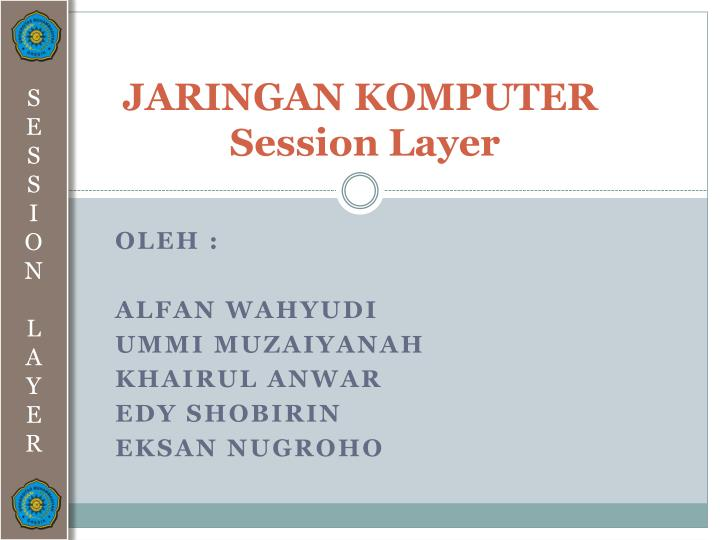 Jaringan komputer session layer