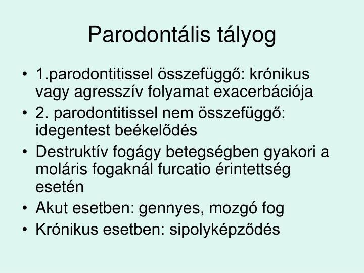 Parodontális tályog