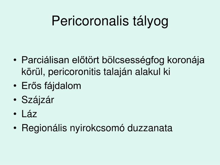 Pericoronalis tályog