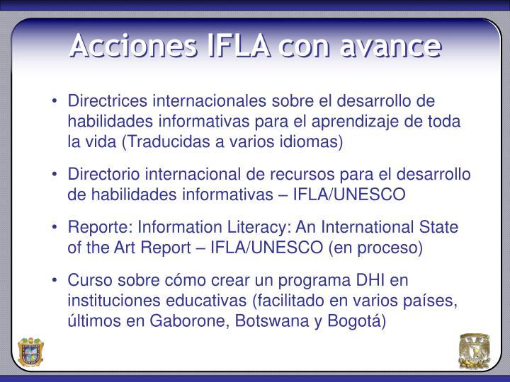 Directrices internacionales sobre el desarrollo de habilidades informativas para el aprendizaje de toda la vida (Traducidas a varios idiomas)