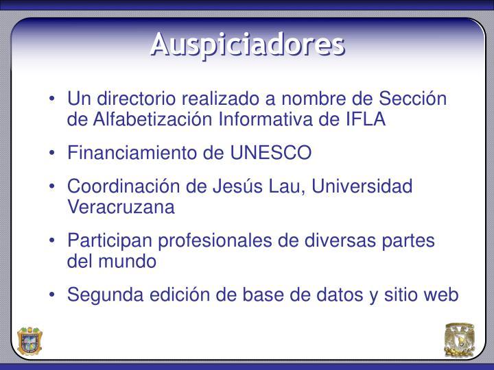Un directorio realizado a nombre de Sección de Alfabetización Informativa de IFLA