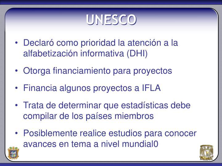 Declaró como prioridad la atención a la alfabetización informativa (DHI)