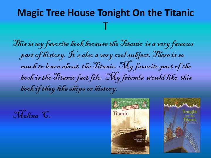 Magic Tree House Tonight On the Titanic