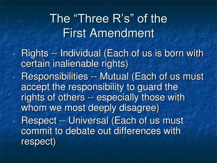 "The ""Three R's"" of the"