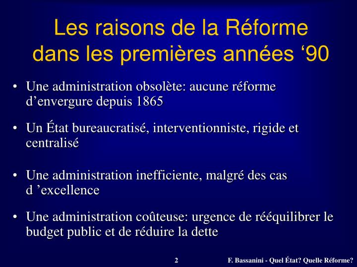 Les raisons de la Réforme