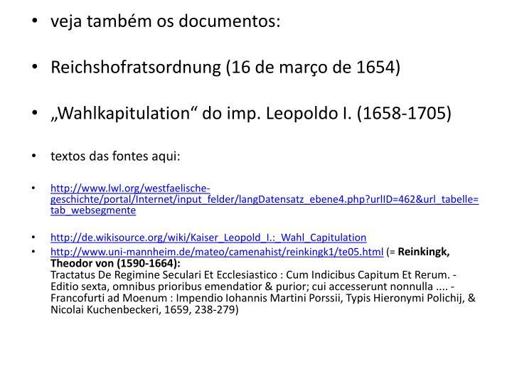 veja também os documentos: