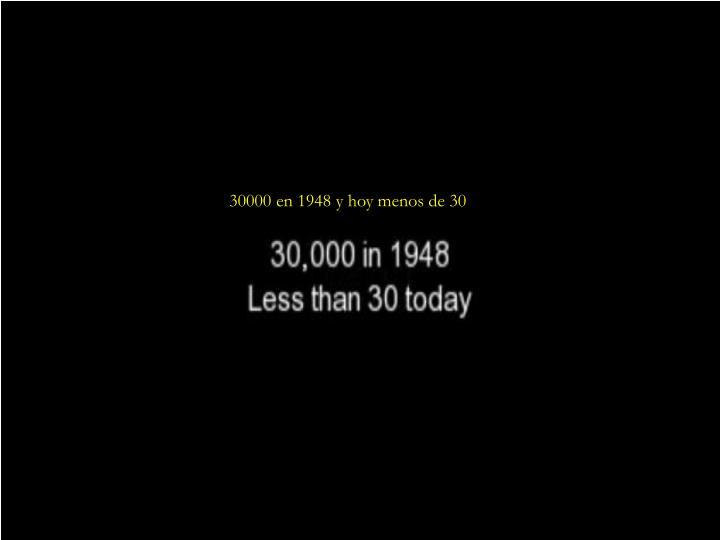 30000 en 1948 y hoy menos de 30