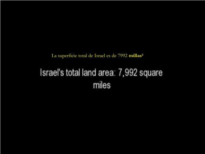 La superficie total de Israel es de 7992