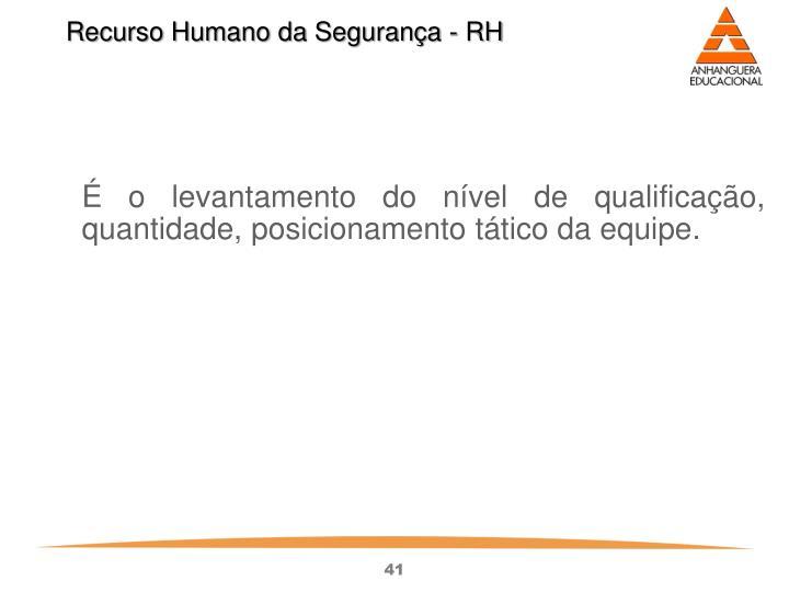 Recurso Humano da Segurança - RH